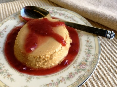WW Friendly Pumpkin Panna Cotta with Berry Sauce