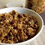 Low Fat Pumpkin Spice Quinoa Cranberry Granola