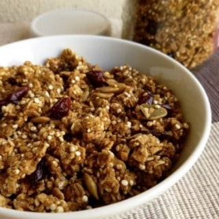 Skinny Pumpkin Granola with Quinoa & Cranberries