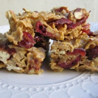 Maple Cranberry Crunch Cereal Bars
