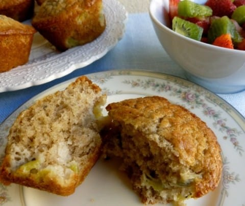 Skinny Kiwifruit Muffins for Breakfast or Brunch