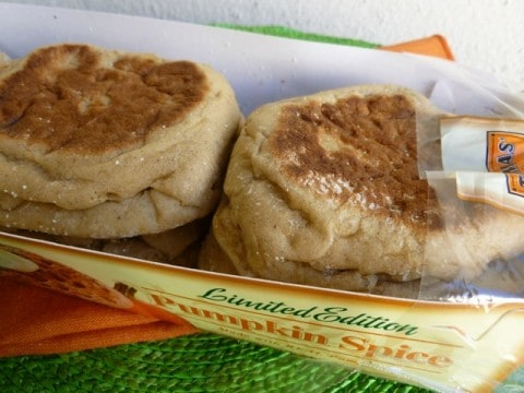 Package of Limited Edition Thomas' Pumpkin Spice English Muffins