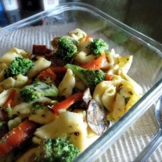 Tortellini with Broccoli & Red Peppers