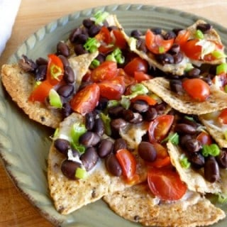Weight Watchers Skinny Cheese & Black Bean Nachos