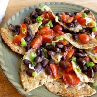 Weight Watchers Cheese & Black Bean Nachos