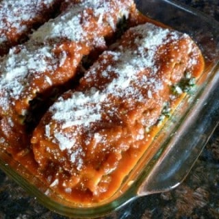 Weight Watchers Healthy Beef Spinach Stuffed Lasagna Rolls