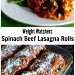 Weight Watchers Lasagna Rolls