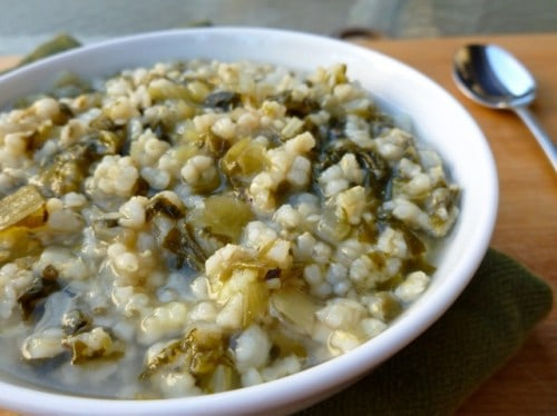 Escarole and Brown Rice Soup • Simple Nourished Living