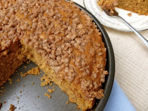 Light Pumpkin Streusel Coffee Cake