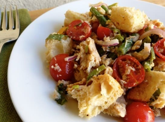 Salmon Panzanella Salad - 5 WW Freestyle SmartPoints