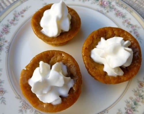 Low Fat Mini Impossible Pumpkin Pie Bites