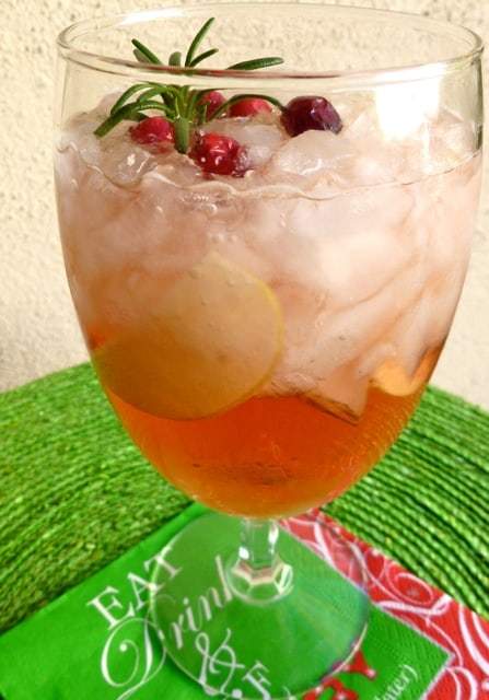 Cranberry Christmas Sangria