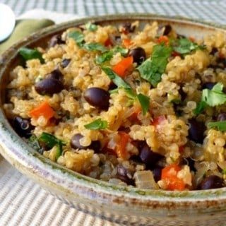 Recipe for Cumin Scented Quinoa and Black Beans