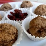 Skinny Chocolate Cranberry Truffles