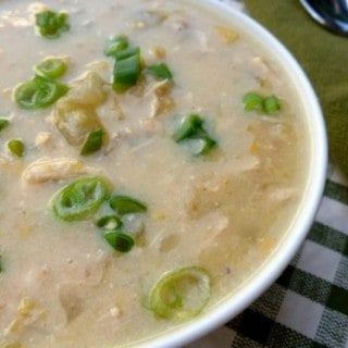 Slow Cooker Turkey Green Chili Chowder