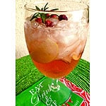 Skinny Cranberry Christmas Sangria and A Giveaway