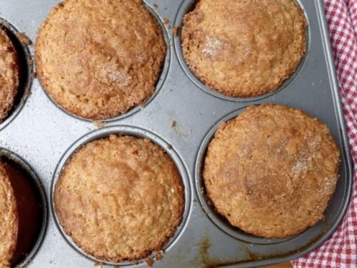 Weight Watchers Friendly Eggnog Oatmeal Muffins
