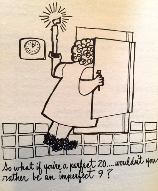 Weight Watchers 1960s program cartoon fridge
