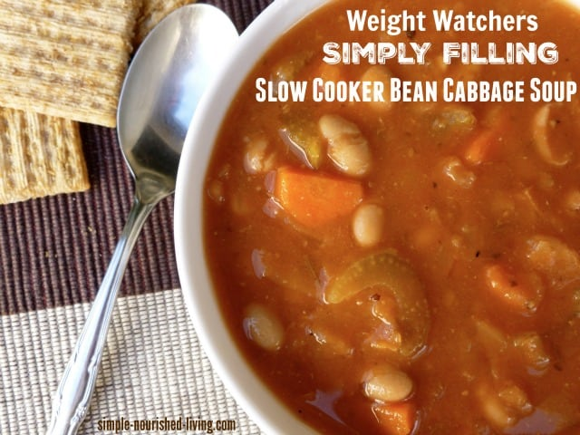 Weight Watchers Simply Filling Bean Cabbage Soup