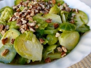 Brussels Sprouts Salad with Maple Mustard Dressing 2