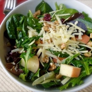 Mixed Greens with Apples, Irish Cheddar, Dried Cranberries and Toasted Walnuts