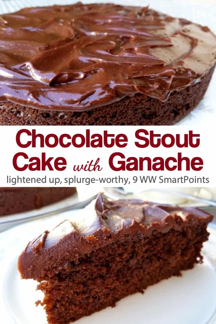 Moist, rich and delicious easy chocolate stout cake topped with a thin layer of creamy chocolate ganache! #easychocolatestoutcake #chocolatestoutcake #stoutcake #cake