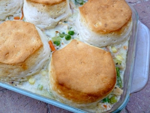 Chicken and Biscuit Pot Pie Made Lighter