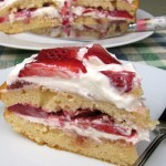 Skinny Strawberry Cream Cake Recipe