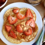 Cottage Cheese Power Pancakes with Strawberries