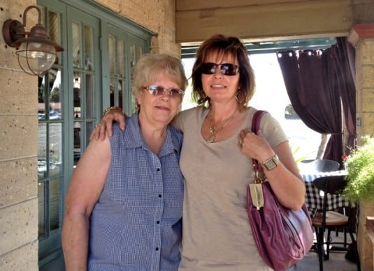 Mom & Brenda at the Coronado Cafe Eating Out on Weight Watchers