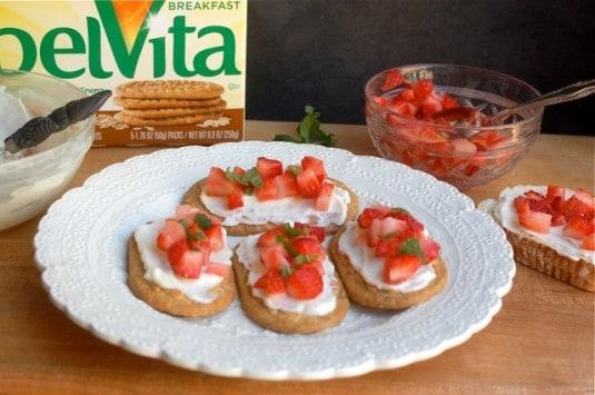 Belvita Strawberry Dessert Bruschetta - Simple Nourished Living