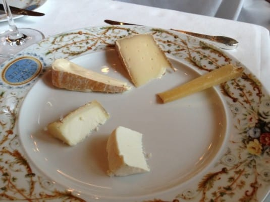 cheese on a plate