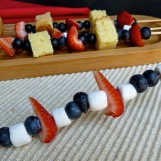 Red White Blue Fruit Kebabs