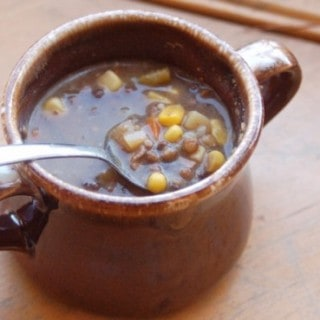 Using Leftovers: Vegetable Beef Lentil Soup