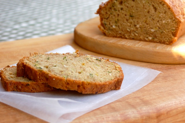 Mom's Lighter Zucchini Coconut Bread - Simple Nourished Living