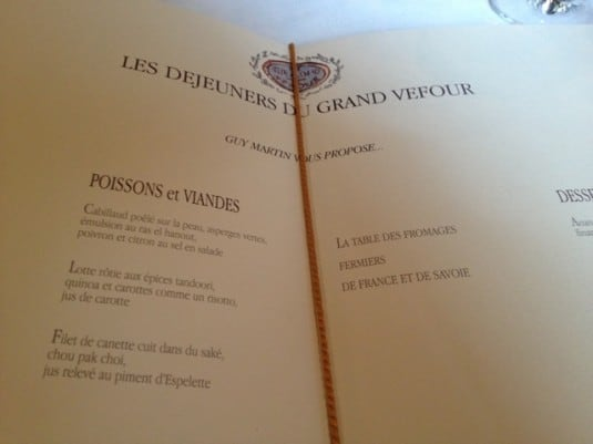 Lunch at Le Grand Vefour