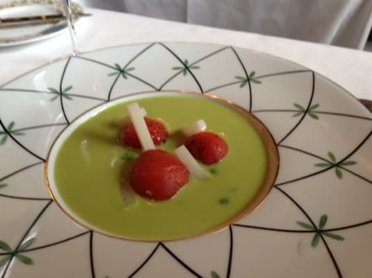 Pea Soup at Grand Vefour