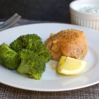 Simple Baked Lemon Chicken Thighs