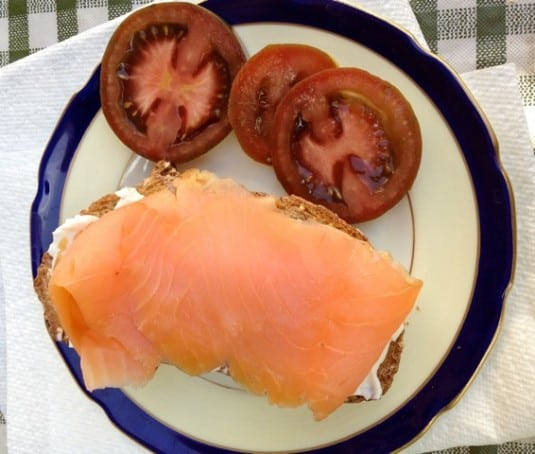 Smoked Salmon and Cream Cheese on Toast