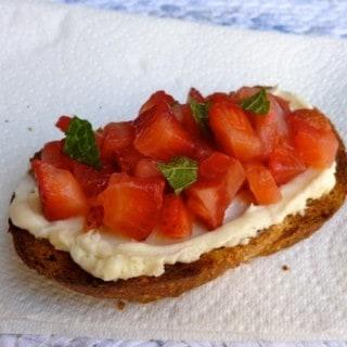 Strawberry Breakfast Bruschetta
