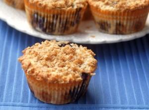 Skinny Lemon Blueberry Oat Muffins