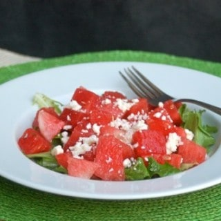 Using Leftovers: Watermelon Feta Salad