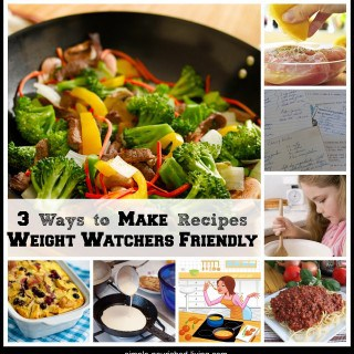3 Ways to Make Recipes Weight Watchers Friendly