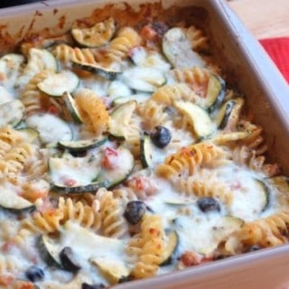 Baked Pasta with Zucchini and Cottage Cheese