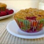 Raspberry Oatmeal Muffins