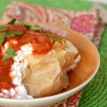 Salsa Cottage Cheese Baked Potato