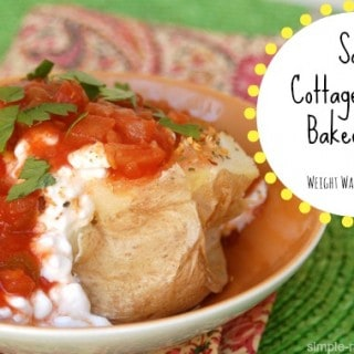 Cottage Cheese Baked Potato with Salsa
