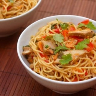Thai Peanut Noodles with Pork