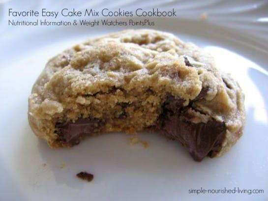 Favorite Easy Cake Mix Cookies Nutrition Information & Weight Watchers PointsPlus