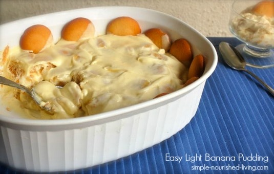 Easy Light Banana Pudding Recipe | Weight Watchers Friendly Recipes